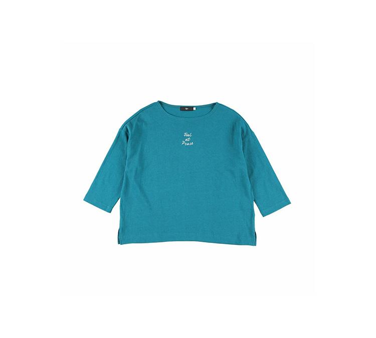 七分袖ロゴTシャツ