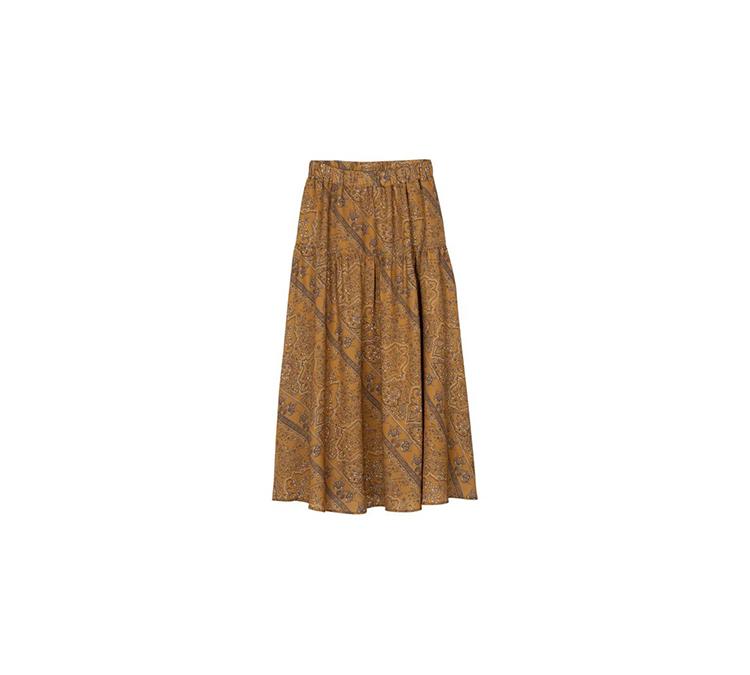 ジョーゼットペイズリープリントロングスカート